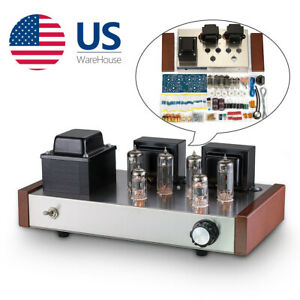HiFi Class AB Tube Power Amplifier DIY Kit Push-pull Stereo Audio Amp 12W+12W