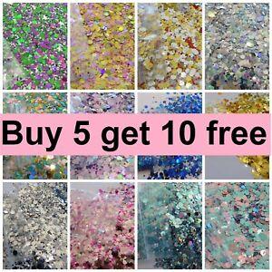 CHUNKY Festival Glitter 5g Face Eye Body Hair Tattoo Cosmetic BUY 5 GET 10 FREE