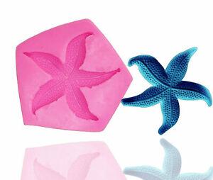 SEA SHELL STARFISH 3D Silicone Fondant Cake Topper Mold Mould Chocolate Clam 2