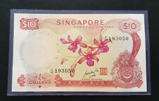 Singapore $10 Orchid Banknote GKS A/66  193050