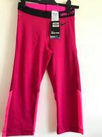 Nike Pro womens pink sports leggings UK size medium dry fit hypercool series