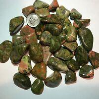 UNAKITE *Tumbled and Highly Polished* 1/2 Pound Lots ~ (40) Gemstones