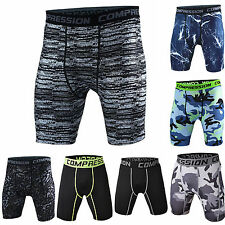 Men Compression Short Pants Camouflage Base Layer Tight Jogging  Sweatpants