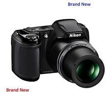 Brand NEW NIKON COOLPIX L340 20MP 28x ZOOM FOTOCAMERA BRIDGE-Nero