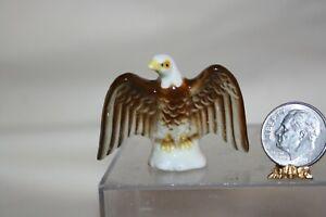 Miniature Dollhouse Vintage Porcelain Magnificent Eagle Figurine 1:12 NR