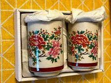 Fine vintage japanese china tea cups with lid