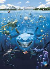 Paper wallpaper Finding Nemo wall mural blue kids bedroom giant poster decor