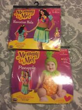 A38 New NIP Mommy & Me costumes baby pineapple 12-18 months mommy Hawaiian Hula