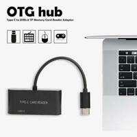 USB 3.1 USB-C Type C to USB 2.0 Hub TF Memory Card Reader OTG Adapter for Phone