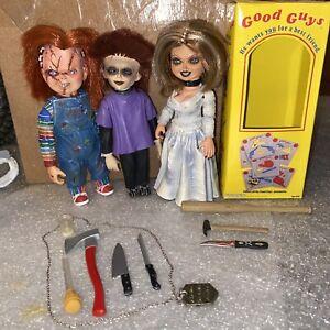 Neca Seed Of Chucky Family Set Rare Tiffany Chucky Glen Complete + Bonus Extras