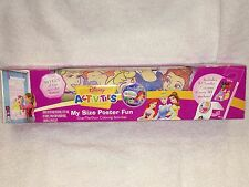 New Disney Princess My Size Poster Fun 30 Feet of Fun to Color Posters