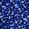 Autism Awareness Fabric - Puzzle Piece Toss Blue - YARD