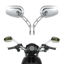Pair Chrome Rear View Mirrors For Harley FLHT FLHR FLTRX Road King FLHTC Classic