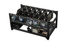 6 GPU Open Air Mining Miner Rig Frame Case USB Power Switch GPU ETH BTC LTC