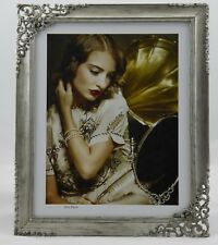 "Metal Photo Frame 8""x 10"" 20x25m Brushed Silver"