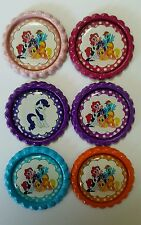 Flattened Bottle Caps for Hair Bows, Jewellery & Crafts-My Little Pony Set 3 x 6