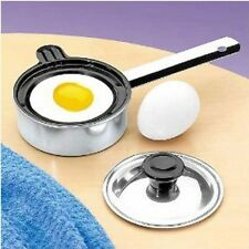 Individual Single Egg Poacher Non Stick Aluminum with Cover (1 Each), New