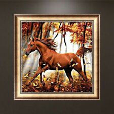 Horse In The Woods  DIY 5D Diamond Embroidery Painting Art Cross Stitch Craft