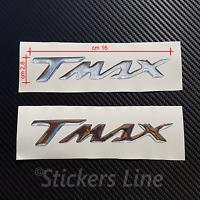 2 scritte Tmax resinate CROMATE adesivi tmax resinati t max 500 530 in rilievo