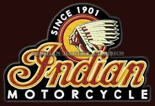 """XL INDIAN MOTORCYCLE EMBROIDERED BACK PATCH ~10-3/4"""" x 7-1/4"""" CHIEF SCOUT BIKER"""