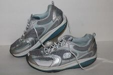 Skechers Shape Ups Accelerators Toning Shoes,#12320, Slvr/Blue,  Womens US 9