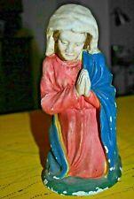 Ancien grand santon Vierge Marie en plâtre