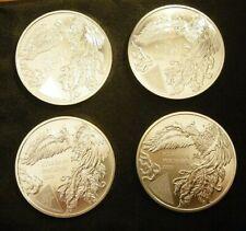 2020 1 oz silver Republic of Korea, Phoenix .999 pure KOMSCO silver (lot of 4)