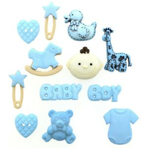 Pack Of MM Baby Boy Dress It Up Novelty Buttons Children Craft Cards Sewing