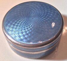 Antique Victorian Deco Sterling Silver Guilloche Enamel Snuff Pill Box 47.2g 935