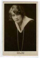 c 1920 Vintage Hepworth Film Movie Theater Star ALMA TAYLOR photo postcard