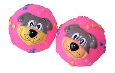 2x quietschend Bälle Hundespielzeug Spielball Beißspielzeug Ball Motivball neu
