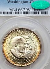 1952 PCGS CAC MS66 Rainbow Toned Washington Carver Commemorative Half Dollar
