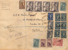 BS225 1923 Bulgaria Sofia HIGH RATE *American Legation* Registered Cover London