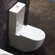Comfort Height Round White BTW WC Toilet, Cistern & Soft Close Seat (1013CH)