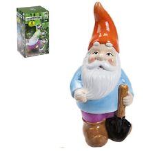 Garden Gnome 26cm Pottery Garden Ornament Novelty Gift Funny Present Grandma Dad
