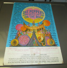 SGT. PEPPER'S Lonely Heart Club Band ON THE ROAD 14x22 Poster on Cardboard VG