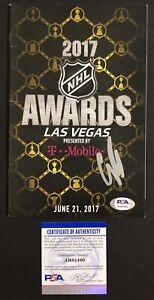 Connor Mcdavid Signed Autographed Edmonton Oilers 2017 Awards Program Psa/Dna