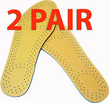 TWO PAIR BROWN UNISEX MEMORY FOAM SHOE INSOLES SHOES COMFORT ANTI-ARTHRITIS NEW