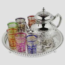 Moroccan Tea Set, 6 Cups Tea Glasses, Teapot , Tea Tray **Brand New**