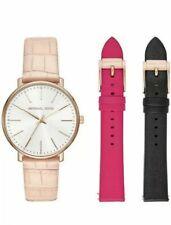 Michael Kors Ladies Pyper Interchangeable Leather Strap Watch Set  MK2775