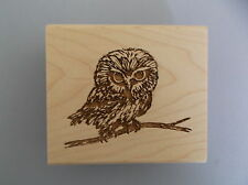CREATIVE IMAGES RUBBER STAMPS CISTAMPS OWL ON A BRANCH NEW wood STAMP