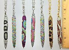 """Mini  Fancy Crystallized Pen Made w/ Swarovski Crystal 30"""" Chain Wearable Pen"""
