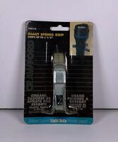 "New Crawford Giant Spring Clip 1-1/2"" Steel Light Duty Flashlight SG1G Free Ship"