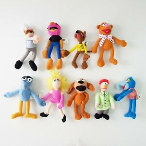 Lot of x 9 McDonald's Happy Meal Muppets Toys 2003 Miss Piggy Gonzo Swedish Chef