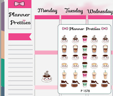 P1578 Kawaii Coffee Time Planner Stickers