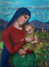 E. ZANDSKAR - 'Madonna & Child' - Viennese Enamel Painting - Austria - C. 1900