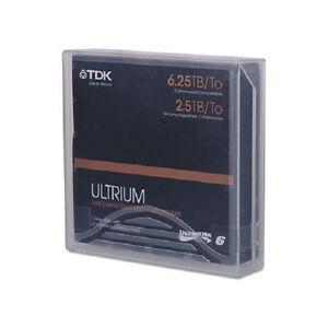 TDK 62032 LTO6 2.5TB 6.25TB TAPES LTO-6 TDK WARRANTY 5 PACK NEW