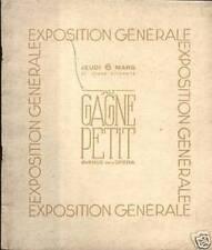 """CATALOGUE """"AU GAGNE PETIT"""" 1930"""
