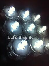 60 White led SUBMERSIBLE Wedding Party Floral Supplies Decoration Vase Tea Light