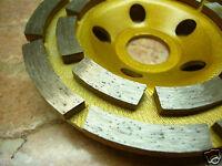 "100mm ( 4"" inch ) PRO Diamond sintered segment grinding grind wheel disc 2 ROW"